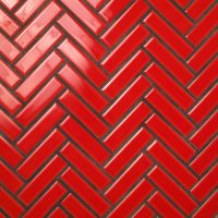 Mosaico espiga 2,5×10. Rojo.