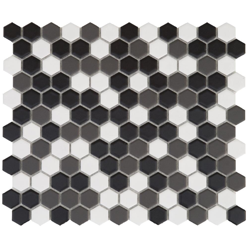 Mosaico hexagonal.